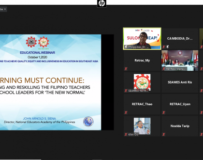 """Educational Webinar on """"Innovative Solutions to Achieve Quality, Equity and Inclusiveness in Education in Southeast Asia"""""""