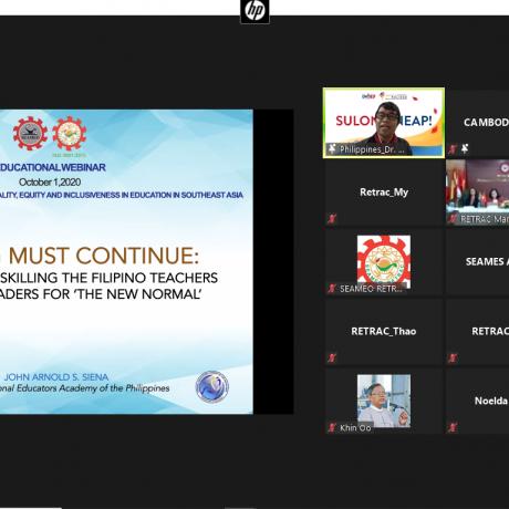 """Diễn đàn giáo dục trực tuyến khu vực về """"Các giải pháp đổi mới nhằm đạt được chất lượng, công bằng, và hòa nhập trong giáo dục Động Nam Á"""""""