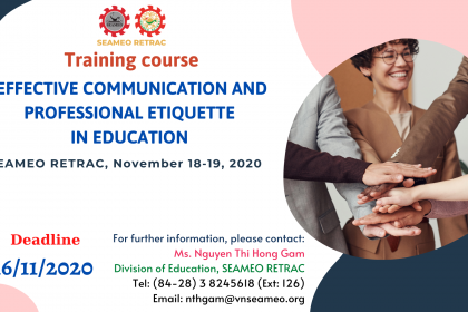 """Training Course on """"Effective Communication and Professional Etiquettes"""" for Universities and Colleges"""