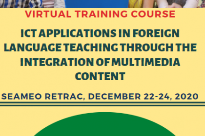 """Virtual training course on """"Information Communication Technologies (ICT) Applications in Foreign Language Teaching through the Integration of Multimedia Content"""""""