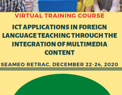 "Virtual training course on ""Information Communication Technologies (ICT) Applications in Foreign Language Teaching through the Integration of Multimedia Content"""
