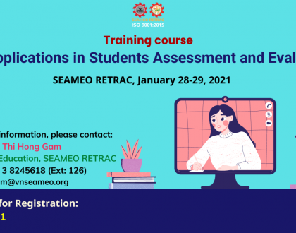 """Training course on """"ICT Applications in Students Assessment and Evaluation"""""""