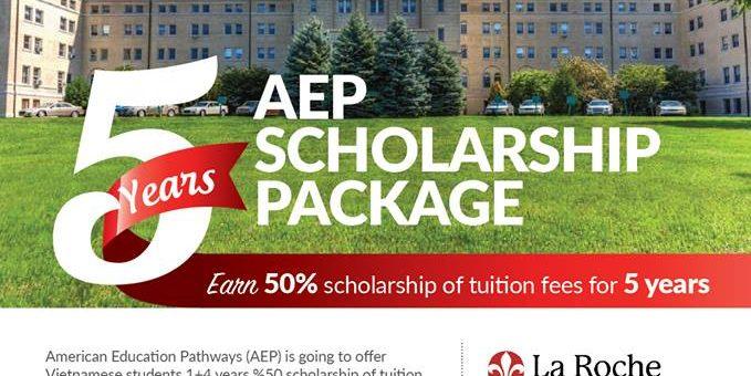 Chương trình học bổng 50% trong 5 năm từ AEP