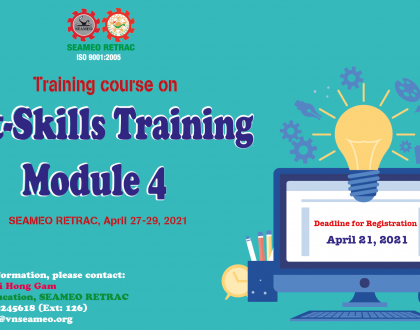 "Training course on ""Soft-Skills Training – Module 4"", April 27-29, 2021"